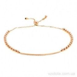 Золотой полужесткий браслет с фианитами Ротри (арт. 4216486101)