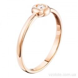 Золотое кольцо с бриллиантом (арт. 15018КИБР)