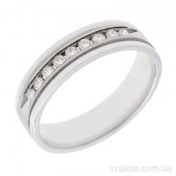 Обручальное кольцо из белого золота с бриллиантами Авиньон