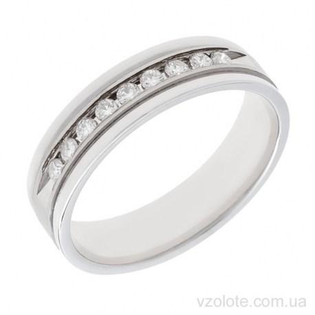 Кольцо из белого золота с бриллиантами (арт. 1191505202)