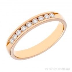 Золотое обручальное кольцо с бриллиантами Вероника