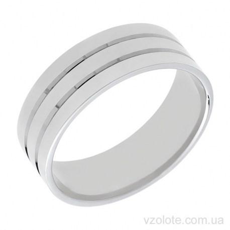 Обручальное кольцо из белого золота Картье