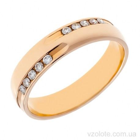 Золотое обручальное кольцо с бриллиантами Нежность