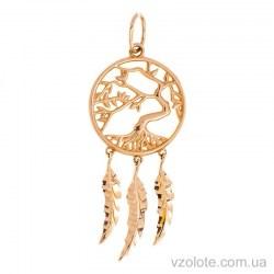 Золотой кулон Ловец снов (арт. 3005725101)
