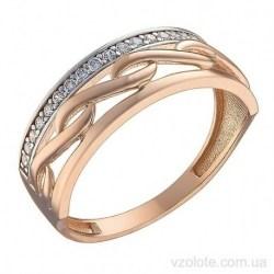 Золотое кольцо с фианитами Рейнхольд (арт. 1106038101)
