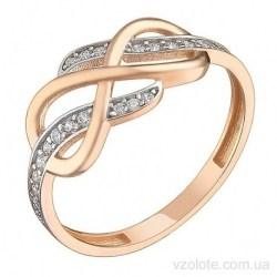 Золотое кольцо с фианитами Шеарот (арт. 1106076101)