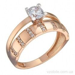 Золотое кольцо с фианитами Йонетт (арт. 1191522101)