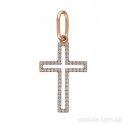 Крестик нательный с фианитами (арт. 3105733101)