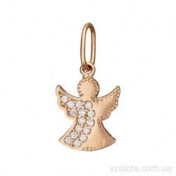 Золотая подвеска с фианитами Ангел (арт. 3106058101)