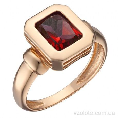 Золотое кольцо с гранатом Сеалея (арт. 1191383101г)
