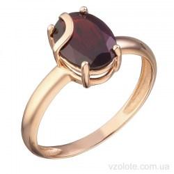 Золотое кольцо с гранатом Авила (арт. 1191411101г)