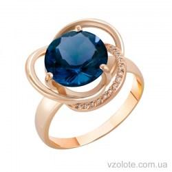 Золотое кольцо с топазом (арт. 1190433101тг)