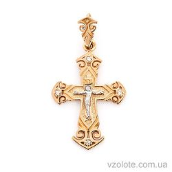 Золотой крестик с Фианитами (арт. 501583)
