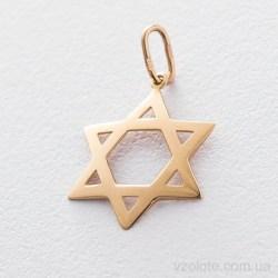 Кулон из красного золота Звезда Давида (арт. п03356)