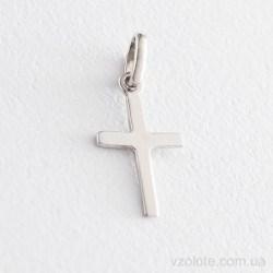 Подвеска крестик из белого золота без распятия (арт. п03162)