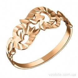 Золотое кольцо с алмазной гранью Лиоана (арт. 1007134101)