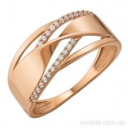 Золотое кольцо с фианитами Альби (арт. 1106271101)
