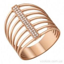 Золотое кольцо с фианитами Сияние (арт. 1106328101)