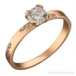 Золотое помолвочное кольцо с фианитами Инти (арт. 1106344101)