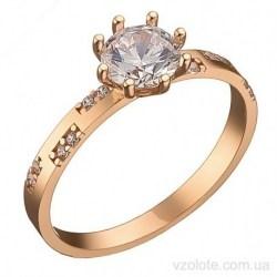 Золотое помолвочное кольцо с фианитами Лиси (арт. 1106345101)