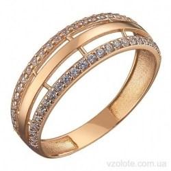 Золотое кольцо с фианитами Хилди (арт. 1106356101)