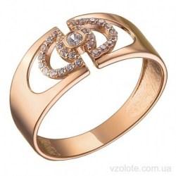 Золотое кольцо с фианитами Инри (арт. 1106441101)