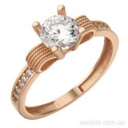 Золотое кольцо с фианитами Бант (арт. 1106799101)