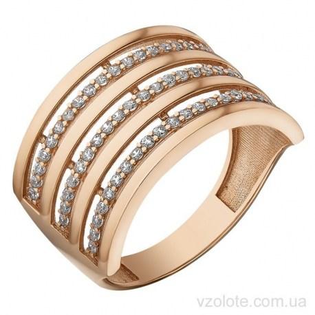 Золотое кольцо с фианитами Ингри (арт. 1106855101)
