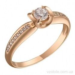 Золотое кольцо с фианитами Брани (арт. 1107076101)