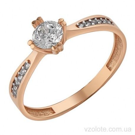 Золотое кольцо с фианитами Багри (арт. 1107246101)