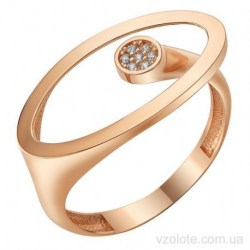Золотое кольцо с фианитами Олли (арт. 1107359101)