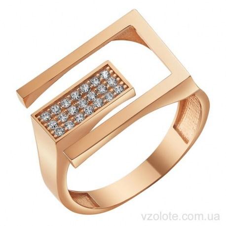 Золотое кольцо с фианитами Адри (арт. 1107366101)