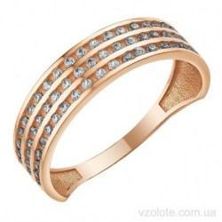 Золотое кольцо с фианитами Авмира (арт. 1107406101)