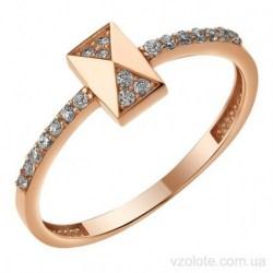 Золотое кольцо с фианитами Альдеви (арт. 1107410101)