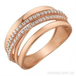 Золотое кольцо с фианитами Энни (арт. 1191518101)
