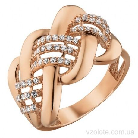 Золотое кольцо с фианитами Вудси (арт. 1191523101)