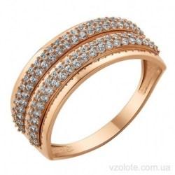 Золотое кольцо с фианитами Аюли (арт. 1191524101)