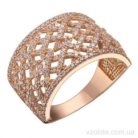 Золотое кольцо с фианитами Аиси (арт. 1191533101)