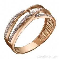 Золотое кольцо с фианитами Альфи (арт. 1191539101)