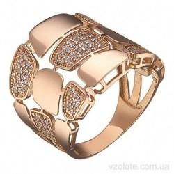 Золотое кольцо с фианитами Ирэль (арт. 1191541101)