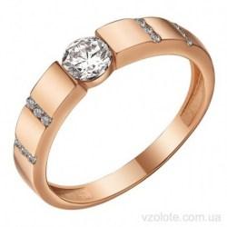 Золотое кольцо с фианитами Асиги (арт. 1191555101)