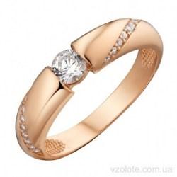 Золотое кольцо с фианитами Эррис (арт. 1191557101)