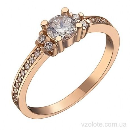Золотое кольцо с фианитами Линди (арт. 1191558101)