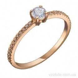 Золотое помолвочное кольцо с фианитами Крони (арт. 1191563101)