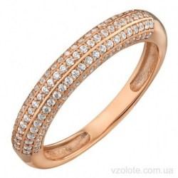Золотое кольцо с фианитами Готит (арт. 1191609101)