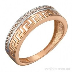 Золотое кольцо с фианитами Омфи (арт. 1191611101)