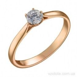 Золотое помолвочное кольцо Эффи (арт. 1191624101)