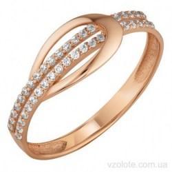 Золотое кольцо с фианитами Сами (арт. 1191628101)