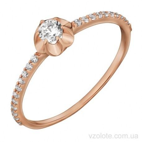 Золотое кольцо с фианитами Мунди (арт. 1191636101)