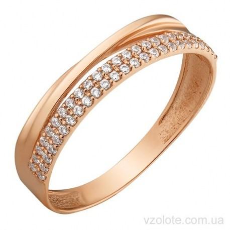 Золотое кольцо с фианитами Раони (арт. 1191637101)